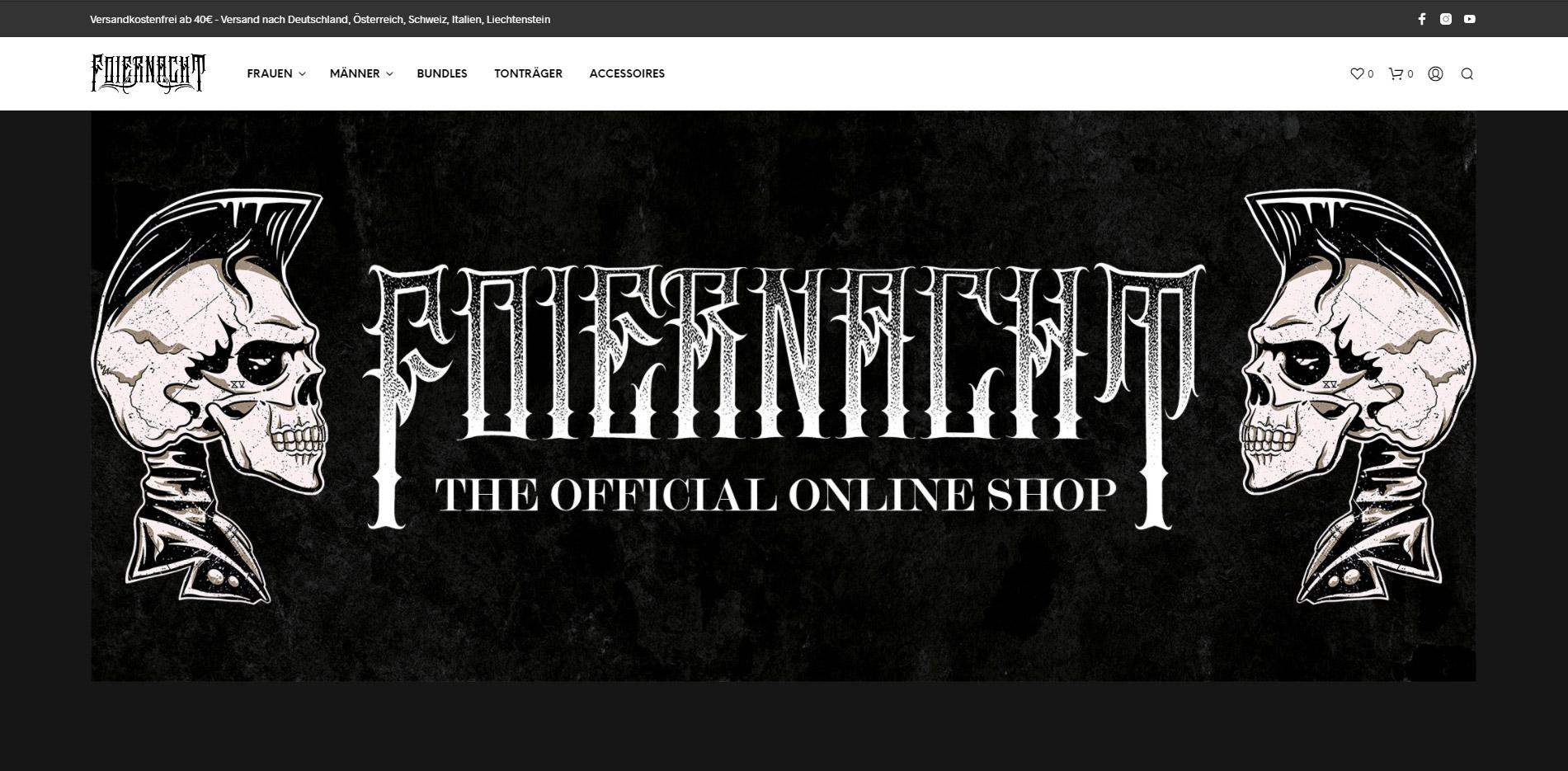 Foiernacht Onlineshop